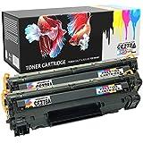 PRESTIGE CARTRIDGE h278twobk CE278A 78A Pack de 2 Cartuchos de tóner láser compatibles para HP Laserjet Pro M1536 MFP, M1536DNF, P1560, P1566, P1600, P1606, P1606DN