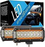 7 pulgadas LED Bar 240W campo a través del LED se ilumina mangas de inundación unidad de punto de Combo campo a través viga de la inundación impermeable de la lámpara de vehículo ligero