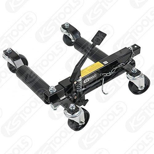 KS Tools 160.0412 Hydraulische Rangierhilfe, Auflagerollen aus Kunststoff, 228mm