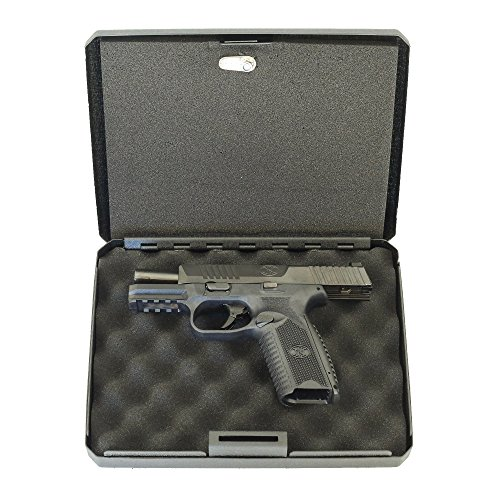 FSDC-MLC9000 CARETAKER California DOJ-approved Lockable Steel Case with Security Cable -  Firearms Safety Devices Corporation