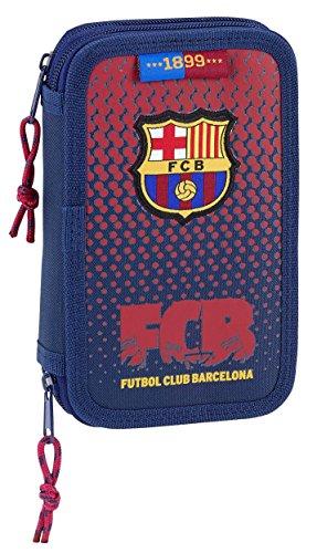 SAFTA Estuche F.C. Barcelona Corporativa Oficial Escolar Incluye 28 Útiles 125x40x195mm