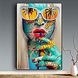 YHZSML Kits De Pintura De Diamantes 5D para Bricolaje,Chica de Arte Callejero de Graffiti Diamond Painting,Bordado de Punto de Cruz Manualidades Arte para decoración del hogar 40x60cm