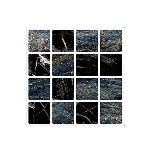 Adhesivo para Azulejos, Azulejos de Mosaico, Papel Pintado Para Baño y Cocina,decoración de Azulejos en el Baño, Resistentes Al Agua y Aceite (30 Pcs,A/9)