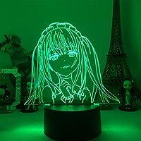 アニメKakegurui Lamp Jabami Yumekoからの寝室の装飾のための贈り物ナイトライト日本語waifu 3D LEDナイトライト-リモコン