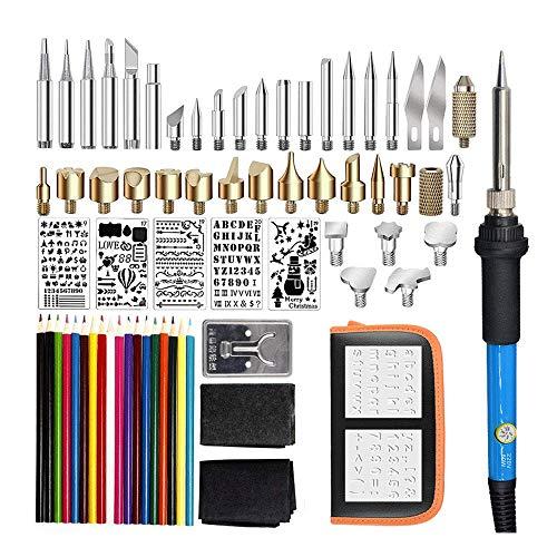 JXJ 71Pcs Kit De Quema De Madera, Multifuncional De