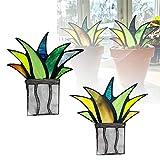 HUUMA Mini decoración de Plantas de Agave Artificial, Mini Planta de Aloe de Agave Artificial en Maceta, decoración de vidrieras, para Maceta, jardín, Patio, decoración de Mesa