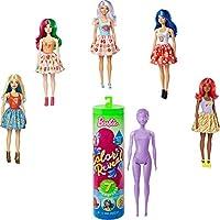 バービー カラー・リビール サプライズ フードテーマ ドール 人形 ファッション付き Tubeボックス入り Barbie Color Reveal Foodie Themed Doll 7 Surprises Color Change (GTP41)
