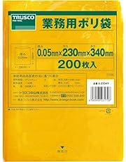 TRUSCO(トラスコ) 小型ポリ袋 縦340×横230×t0.05 黄 200枚入 A-2334Y