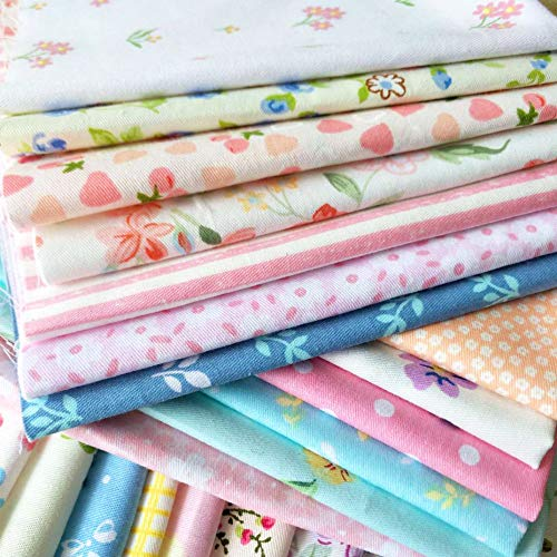 """30pcs Quilting Fabric Squares Sheets 30 Different Lovely Floral Pattern Pack Assorted Sewing Fabric for Craft 12""""x 12""""(30 cm x 30 cm) 100% Cotton"""