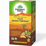 ORGANIC INDIA Tulsi Ginger Turmeric 25 Tea Bags Pack of 2
