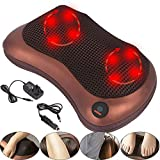 YORKING Electric Waist Neck And Back Massager Shiatsu Massage Pillow With Heated Massager To Relieve Soreness Home Car Office