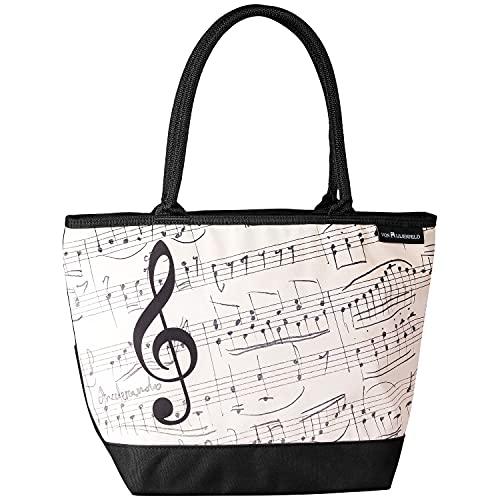 VON LILIENFELD Bolsa de la compra, diseño de notas musicales