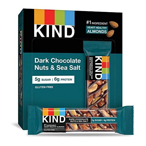 KIND Bars, Dark Chocolate Nuts & Sea Salt, Gluten Free 3