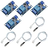 WMYCONGCONG 4 PCS Photoresistor Relay Module DC 12V Light Control Switch Photoresistor Relay Module Detection Sensor Automatic Light Control Switch with Cable