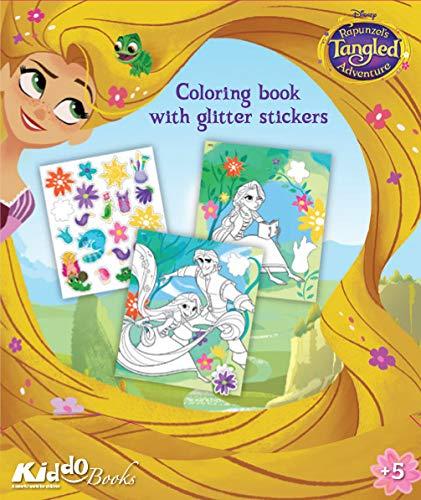 QuackDuck Disney Malblock Rapunzel - Tangled - Neu verföhnt - Coloring Album mit Glitzer Glitter Sticker (9055)