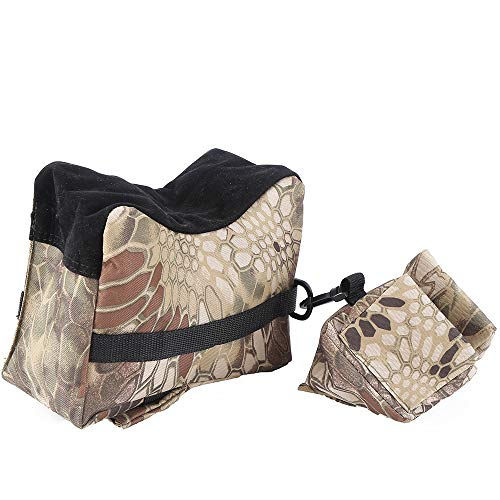 Kwnraor Shooting Rifle Rest Bag, Shooting Bags for Rifles for Gun Rest Hunting Outdoor – Unfilled (Snakeskin Camouflage)