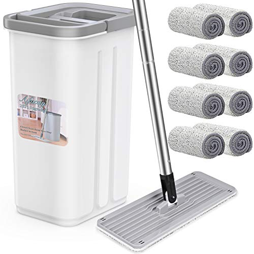 Aifacay Flat Mop and Bucket Floor Cleaning System,...