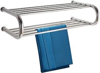 Household appliances Doble Capa toallero eléctrico montado en la Pared, Radiador de baño de Acero Inoxidable Calentadores de Toallas Barra de Toalla Toalla de baño de Temperatura Constante tendedero