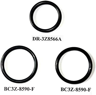 T-pipe Coolant Leak Repair Gaskets, Engine Radiator Hose And Reservoir Expansion Tank Hose O-Ring Kit Seals for Ford F-150 & F-250/350/450/550 Super Duty 2011-18/Replacement DR3Z8566A & 2x BC3Z8590F