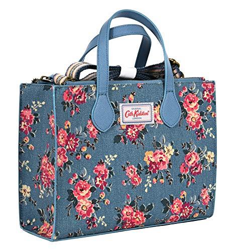 Cath Kidston Kingswood - Bolsa cruzada con hombro de rosa, color azul