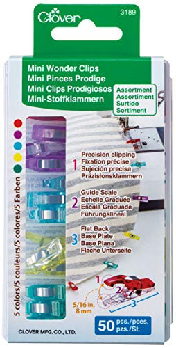 Clover Mini Stoffklammern, Kunststoff, bunt