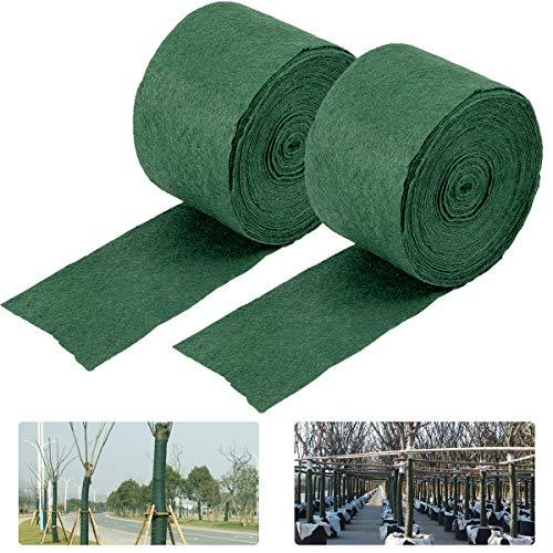 ANPHSIN 2 Packungen Baum-Schutzfolien, 65 Fuß, Winterfest, Baumstamm, Sträucher, Pflanzen, Frostschutz-Bandage, Schutz für warm und feuchtigkeitsspendend
