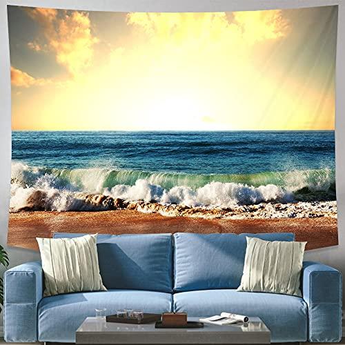 KHKH Sea Beach Landschaft Tapisserie Anhänger Wand...