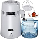 VEVOR Countertop Water Distiller 750W Purifier Filter with Handle 1.1 Gal 4L BPA Free Container Perfect for Home Use, White