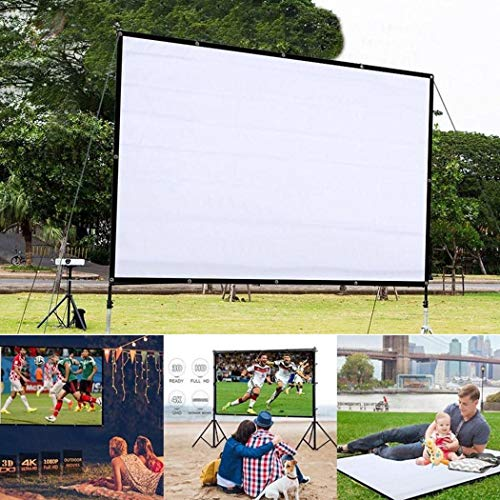 Buy Eubell Projector Screen Movie Screen 78.7 Inch 4:3 Foldable Anti-Crease Portable Projector Movie...