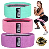 NVRGIUP Exercise Resistance Bands for Legs and Butt, Upgrade Thicken Anti-slip & Roll Workout Booty Bands, Mini Hip Circle Loop Sliders Fitness Thigh Glute Bands Set for Women with Ebook & Video