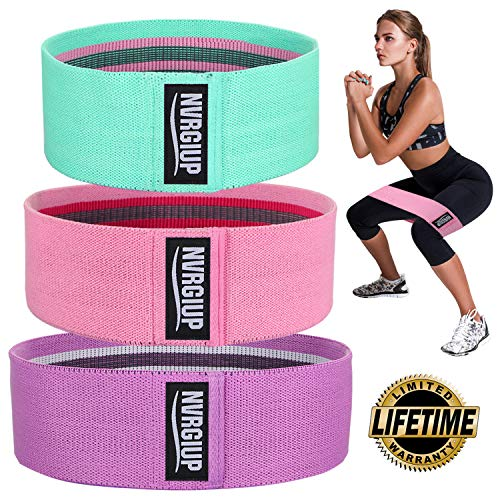 NVRGIUP Exercise Resistance Bands for Legs and Butt Upgrade Thicken Antislip amp Roll Workout Booty Bands Mini Hip Circle Loop Sliders Fitness Thigh Glute Bands Set for Women with Ebook amp Video