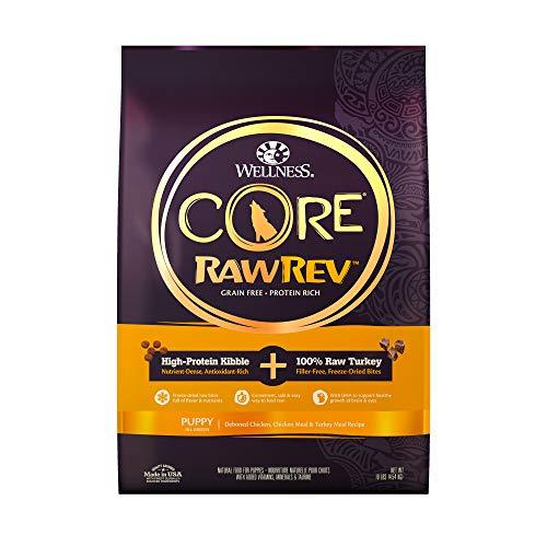 Wellness CORE Rawrev Grain Free Natural Dry Puppy Food, Puppy Deboned Chicken & Turkey With Freeze Dried Turkey Recipe, 10-Pound Bag