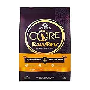 Wellness CORE Rawrev Grain Free Natural Dry Puppy Food, Puppy Deboned Chicken & Turkey With Freeze Dried Turkey Recipe, 10-Pound Bag