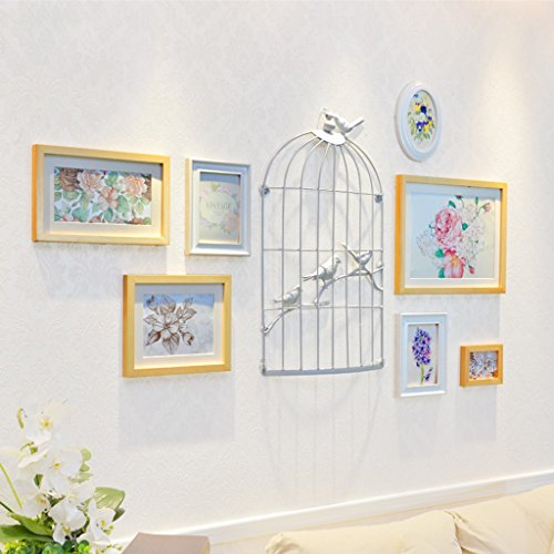 William 337 Cadre photo mural à suspendre Motif cage à oiseaux