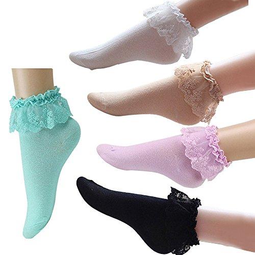 Mangotree Vintage Lace Söckchen Ruffle Rüschen Fashion Ladies Princess Mädchen Geschenk