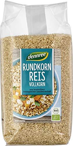 dennree Bio Rundkornreis Vollkorn (6 x 1 kg)