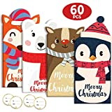 60Pcs Christmas Gift Card Money Holder Holiday Favors Holographic Designs 20 Cards 20 Envelopes 20 Stickers