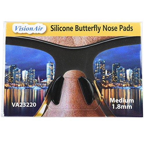 1.8mm 10 Pairs Eyeglass Sunglass Glasses Spectacles Anti-Slip Silicone Stick on Nose Pad Soft Anti-Slip Silicone Non Slip Black