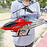 Hobby Plan de Control Remoto Helicóptero 3.5 Canal 68 CM Longitud Hobby Radio Avión E Plano Control Remoto Mini Vuelo Helicóptero Niños Navidad Gran Helicóptero (Rojo) Exclusivo 2 Peng