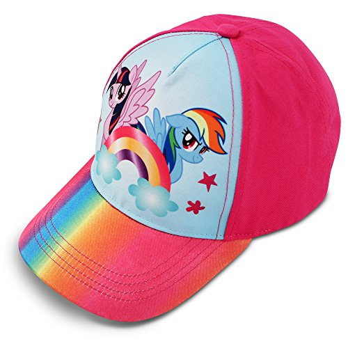 Hasbro Little Girls My Little Pony Character Cotton Baseball Cap, Rainbow Dash, Age 4-7