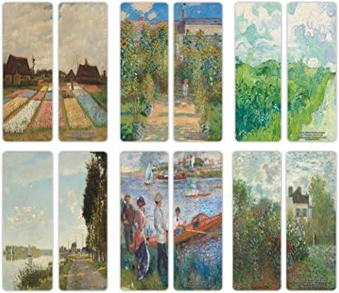 Creanoso Famous Classic Art Series 5 Bookmarks 60 Pack Van Gogh Claude Monet Auguste Renoir product image