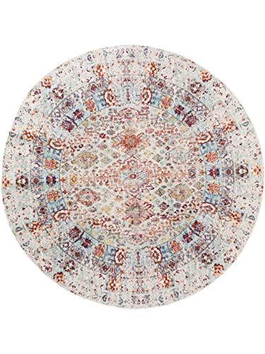benuta Visconti Rug Multi-Coloured / Blue Diameter 120 cm Round