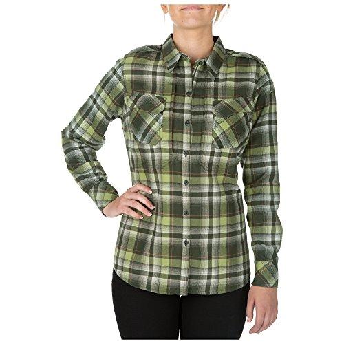 5.11 Tactical Series Chemise Heartbreaker Flannel Chemise à Carreaux en Flanelle très Confortable Femme Swamp FR: XS (Taille Fabricant: XS)