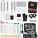 Morole Kit Barbecue Ustensiles Barbecue 45 Pièces Accessoire Barbecue Acier Inoxydable Set Barbecue pour Hommes Femmes Camping Barbecue