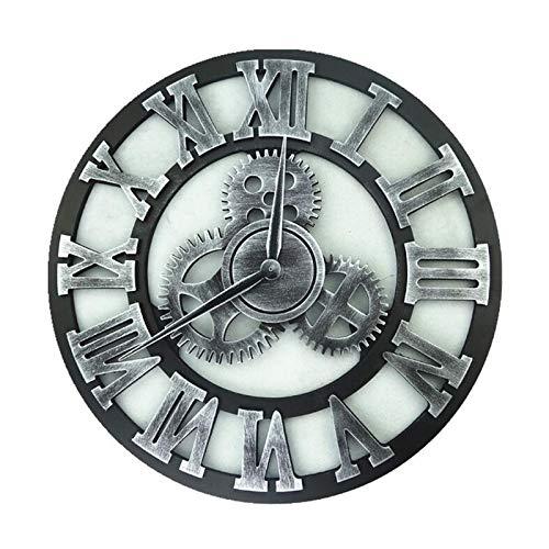 Sygjal Reductores industriales Reloj de Pared Decorativo de Madera Retro Colgante de Pared Reloj Edad Estilo de decoración de Interior la Pared del Arte de la decoración Reloj de Pared