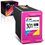 ColoWorld Remanufacturado 301XL 301 Cartuchos de Tinta HP 301 XL para HP Envy 4500 5530 4504 Deskjet 2540 2050 2544 3050 1510 1000 1010 2510 Officejet 2620 4636 4632 4630 1050 Impresora(1 Tricolor)