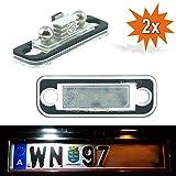 Iluminación de matrículas LED 1103V2, iluminación de matrículas, aspecto de xenón con marca de certificación E