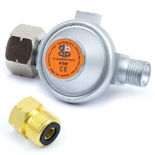 Druckregler 4,0 bar 8 kg/h Gasregler Schlauch Druckminderer Abflammgerät RED2