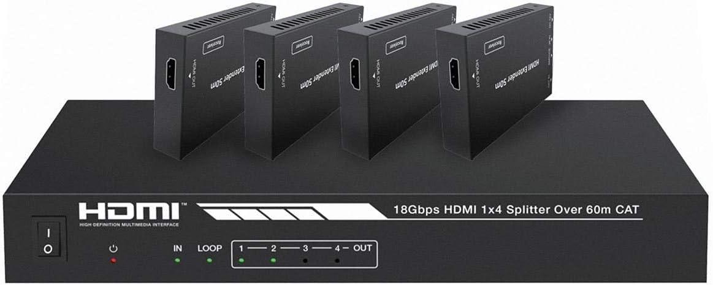 Monoprice Blackbird 4K HDMI 2.0 Splitter Free Max 52% OFF shipping New Kit Extender 1x4 18Gb
