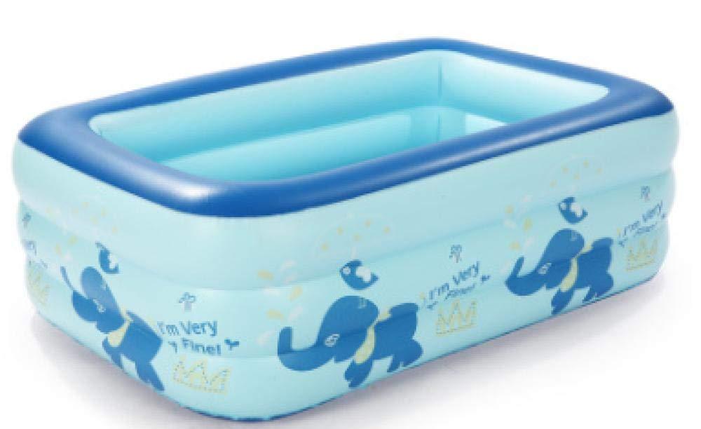 Gran Piscina Infantil Hinchable para niños y Adultos para participar en la Fiesta en el jardín 130 * 95 * 55 Azul, Enviar Bomba eléctrica Inflable: Amazon.es: Jardín